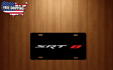 SRT 8 BLACK Aluminum License Plate logo SILVER/RED Tag Chrysler Jeep Dodge