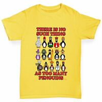 Twisted Envy Boy's Too Many Penguins Funny Cotton T-Shirt