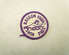 Vintage 1988 Kasson Swim Pass Iron On Patch