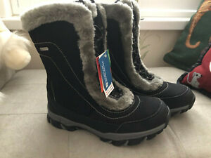 Ladies Mountain Warehouse Ohio snowboot. Size 6. Black. New