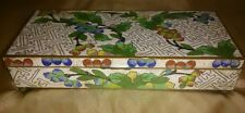"ANTIQUE 1900-1920 LARGE Chinese 7 1/2"" Cloisonne Hinged Compartment Jewelry Box"