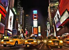Photographic Wall Mural New York Times Square at Night Wall Decor