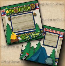 BOY or CUB SCOUTS 2 premade scrapbook pages paper piecing BY DIGISCRAP #A0116