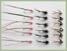 18 Goldhead Nymph, Copper John, French Fancy & Hotspot, Mixed 10/12, Fly Fishing