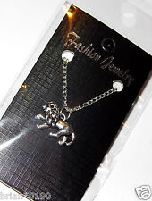 Fashion Jewelry Necklace Lion Necklace, Silver