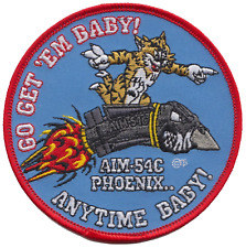 United States Navy USN Grumman F-14 Tomcat 'Go Get 'Em Baby!' Embroidered Patch