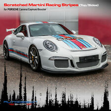 Scratched Martini Racing Stripes for Porsche Carrera / Cayman / Boxster