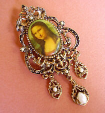 "951 /   BROCHE  KITSCH ...""LA JOCONDE"""