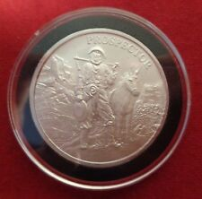 1 Ounce The Prospector Round .999 Fine  Silver  In  Black Ring Airtite