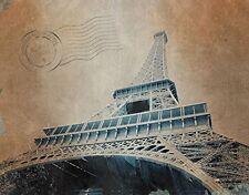 EIFFEL TOWER - POST CARD - FINE ART PRINT POSTER 13x19 - FRANCE TRAVEL EDC525