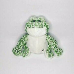 Ganz Webkinz Frog Plush Stuffed Animal Green Spotted Soft Cuddly Sitting