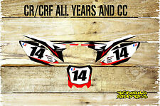HONDA CR CRF 85 125 150 250 450 NUMBER BOARDS-BACKGROUNDS-GRAPHICS-STICKERS-MX1