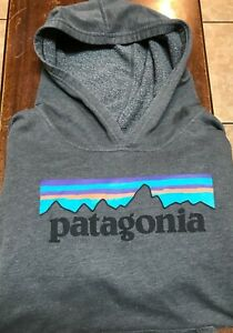 youth Patagonia L/S hooded sweatshirt size XL gray