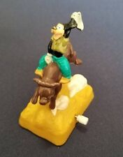 1995 Burger King Disney Goofy Bucking Bull Wind Up Toy Cake Topper Cowboy Bronco