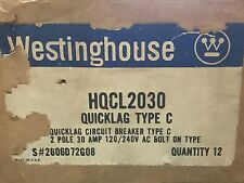 NOS Westinghouse Quicklag Type C HQCL2030 2 Pole 30 Amp Bolt On In Breaker NEW