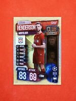 Carte panini match attax 2019 - 2020 champions league JORDAN HENDERSON LIVERPOOL