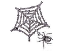 Gótico Telaraña Itsy Bitsy Spider-Man Cristal Estrás Broche Pin Halloween Regalo