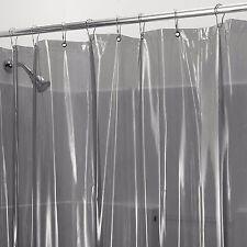 Heavy Vinyl Shower Curtain Liner In Smoke Extra Long 72x84 Mildew Mold Resistant