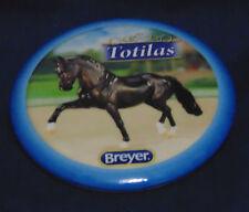 BREYER HORSE BUTTON PIN - TOTILAS -- BLUE RIM ON PIN
