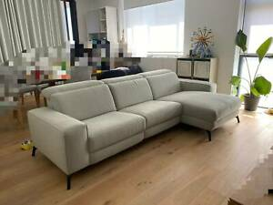 Nick Scali 2.5 Seater Electric Fabric Sofa with Chaise