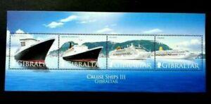 [SJ] Gibraltar Cruise Ships III 2007 Transport Vehicle (miniature sheet) MNH
