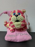 BAGPUSS Cat On Pillow Soft Toy Plush 21st Birthday Pink NEW