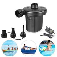 2 in1 Electric Inflator/Deflator Air Pump with 3 Nozzle for Camping Padding Pool