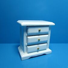 Dollhouse Miniature Bedroom Night Stand / Side Table in White ~ CL10060