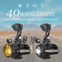 Motorcycle LED Auxiliary Fog Light Pair Driving Spot Lamp For BMW F800GS R1200GS