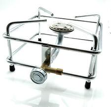 Hockerkocher aus Chrom / Edelstahl Propan Butan Gaskocher auch für Räucherofen
