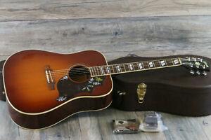 2002 Gibson Hummingbird Standard Acoustic Dreadnaught Cherry Sunburst + OHSC
