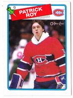88-89 OPC Patrick Roy 3rd Year OpeeChee Canadiens 1988