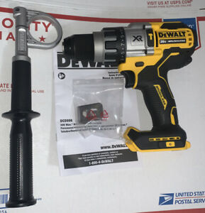 "DEWALT DCD998B 20V 20 VOLT Brushless 1/2"" Hammer Drill Power Detect New"