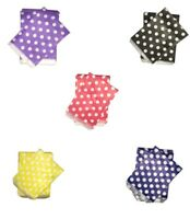 "Polka Dot Pattern Paper Candy / Sweets Bags Spots Wedding Gift Cake 5""x7"""