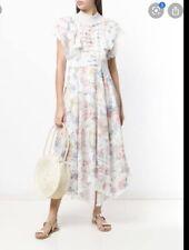 Zimmermann Bowie Frilled  Midi Dress Size 1🌟🌟🌟