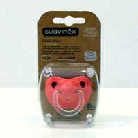 SUAVINEX  EVOLUTION ML SILICONE ANATOMICAL TEAT PACIFIER DUMMY +12M ROSA SALMONE