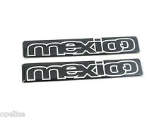2 x Genuine New FORD MEXICO BADGE For Mk6 1995 Escort Limited Special Edition