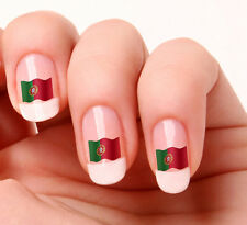 20 Nail Art Decals Transfers Stickers #246 - Portuguese Flag