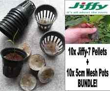 10x Jiffy-7 Pellets (41mm) + 10x 5cm Mesh pots Bundle!