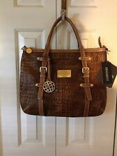 NEW LARGE DUMOND LEATHER SATCHEL TOTE BAG Made In Brazil LAST ONE