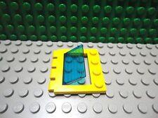 Lego 1 Yellow window hatch door hinged with Trans Dark Blue lens