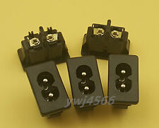 5Pcs  Black Male Plug IEC320 C8 Power Socket Connector AC 250V 2.5A 2Pin