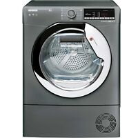 GRADE A3 - Hoover DXOC8TCER-80 8kg Freestanding Condenser Tumble Dryer - Graphit