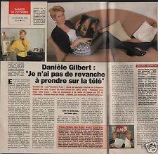 Coupure de presse Clipping 1992 Danièle Gilbert   (1 page 1/2)