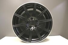 1 GENUINE MERCEDES E CLASS W212 E63 & CLS63 AMG ALLOY WHEEL 9.5J REAR BLACK MATT