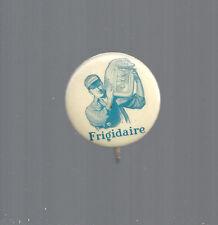 1900 era FRIGIDAIRE MAN WITH ICE BOX DESIGN ADVERTISING BUTTON