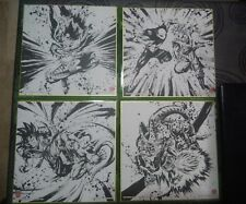 4 dragonball goku jiren vegeta cell freezer cartas shikishi 24x24cm bola de drac