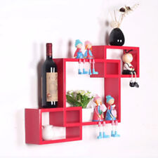 Red Wall Cube Floating Shelves Storage Box Shelf Display Shelving Girl Kid Room