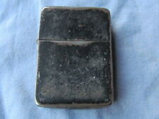 BRIQUET / LIGTHER  ZIPPO BLACK CRACKLE 1942  USWWII