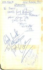 Rokotto signed autograph book page 1978 Scottish soul/funk band Boogie On Up